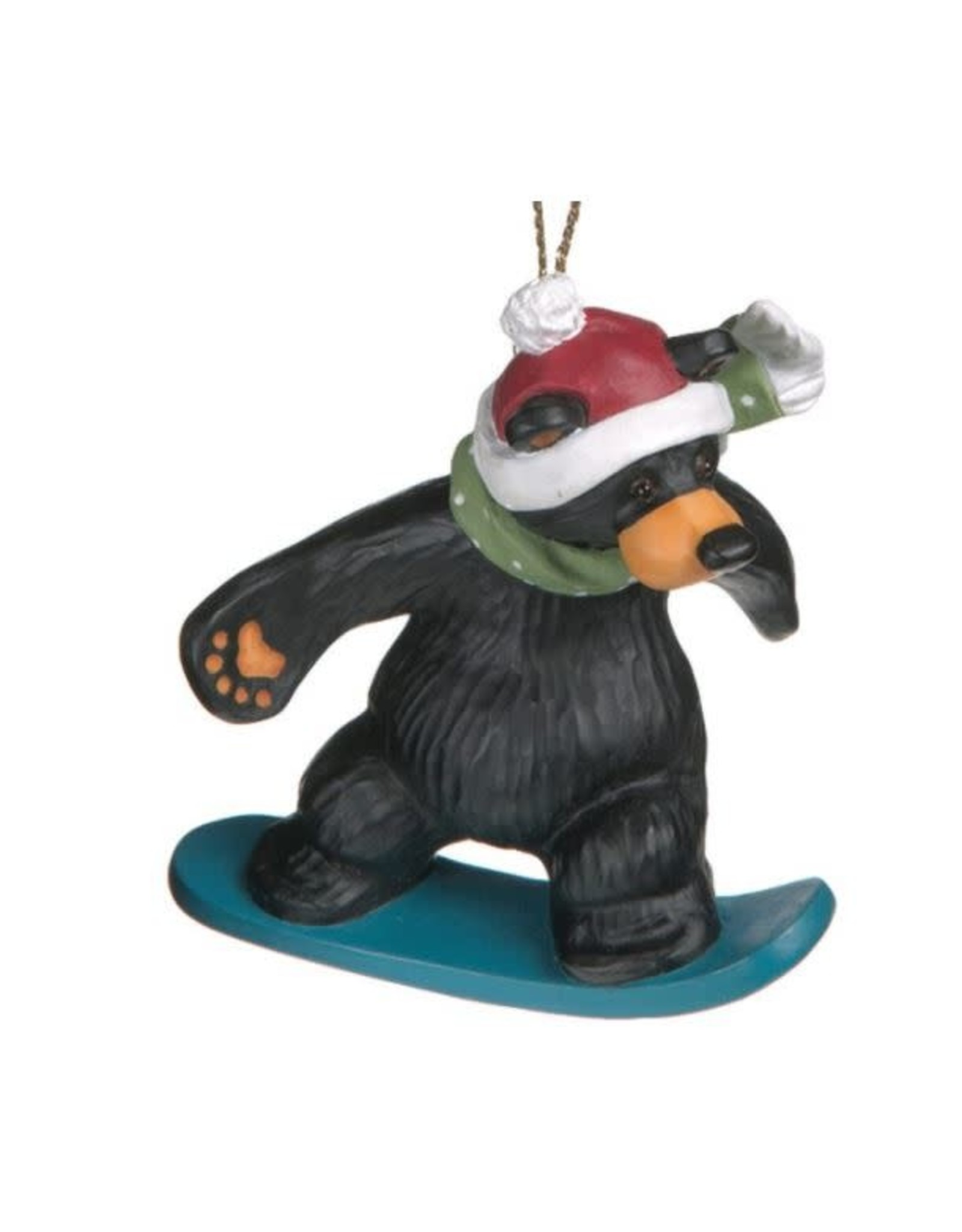 Demdaco BEAR SNOWBOARDER ORNAMENT