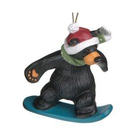 Demdaco BEAR SNOWBOARDER ORNAMENT