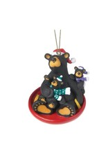 Demdaco SAUCER SLED BEAR ORNAMENT