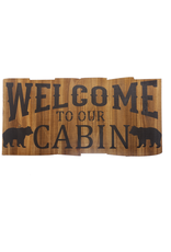 Ganz WELCOME TO OUR CABIN SIGN