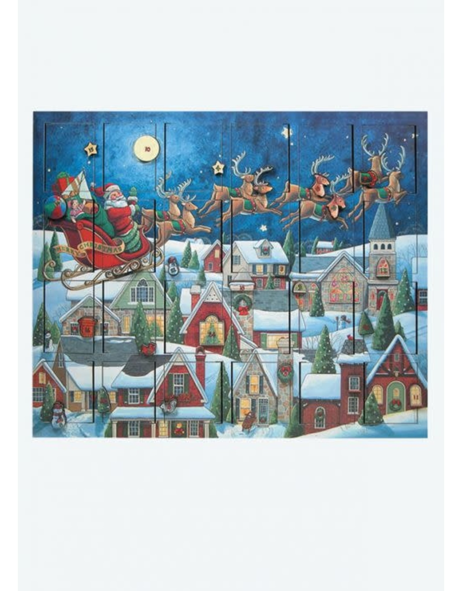 Byers Choice SANTAS SLEIGH ADVENT CALENDAR