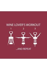 Paper Products Designs WINE LOVER'S WORKOUT BEVERAGE NAPKIN