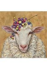 Paper Products Designs VINEYARD SHEEP BEVERAGE NAPKIN