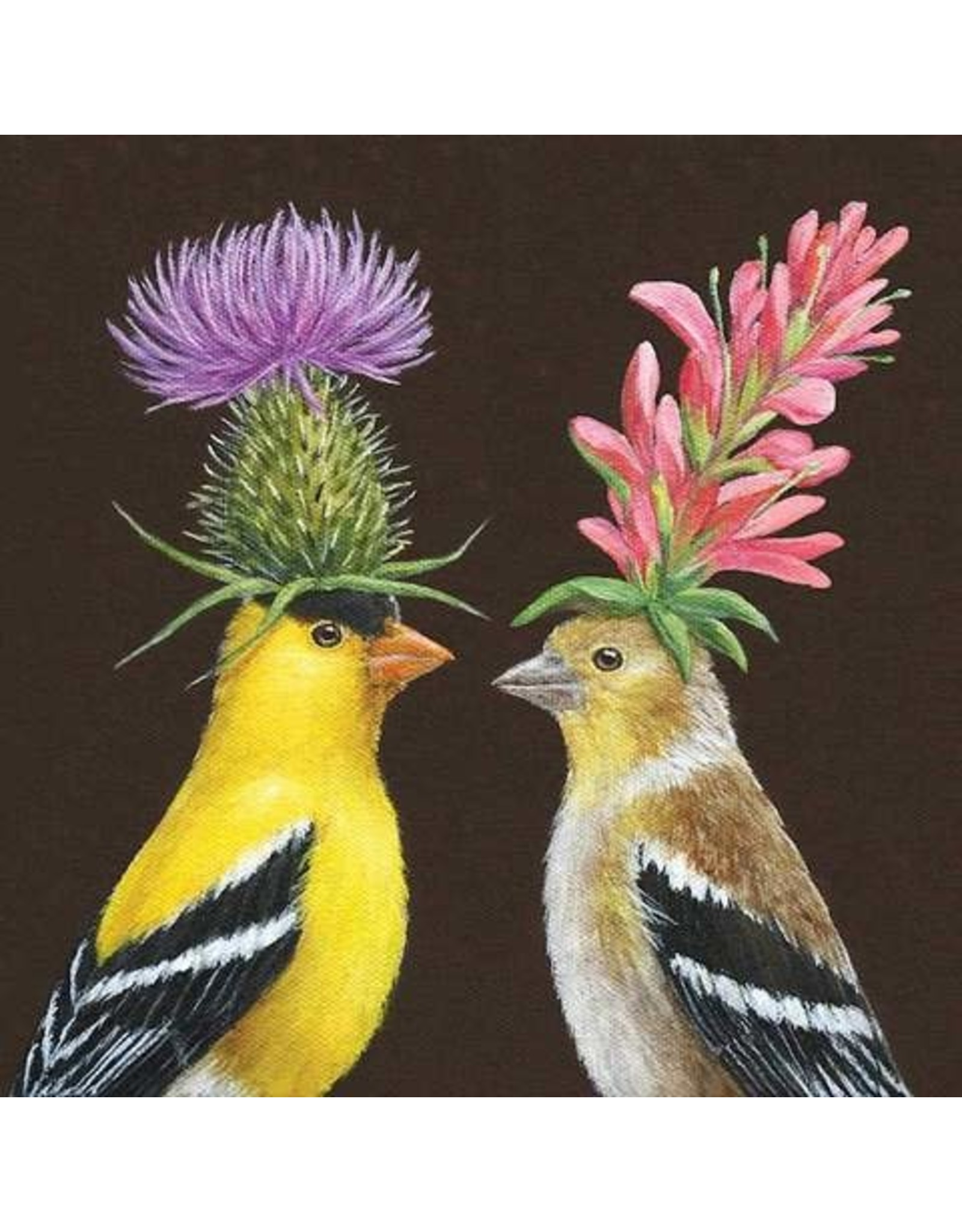 Paper Products Designs GOLDFINCH COUPLE LUNCH NAPKIN