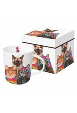 Paper Products Designs GROOVY CATS MUG IN GIFT BOX