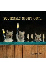 Paper Products Designs SQUIRRELS NIGHT OUT BEVERAGE NAPKIN