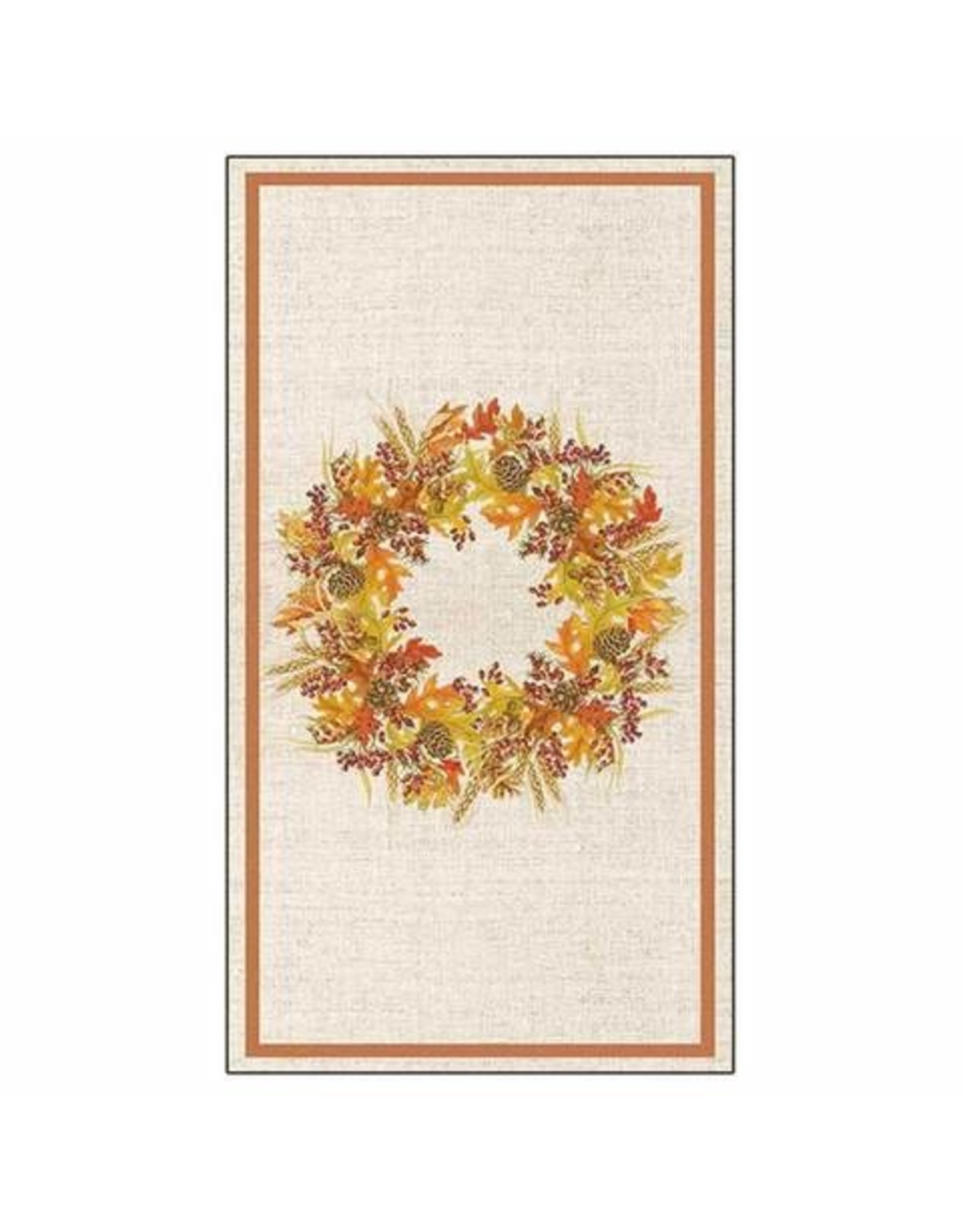 Paper Products Designs HARVEST WREATH GUEST TOWEL