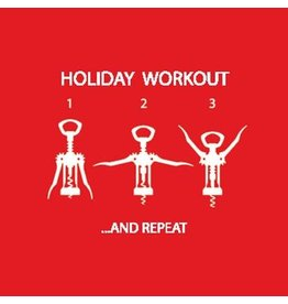 Paper Products Designs HOLIDAY WORKOUT BEVERAGE NAPKIN