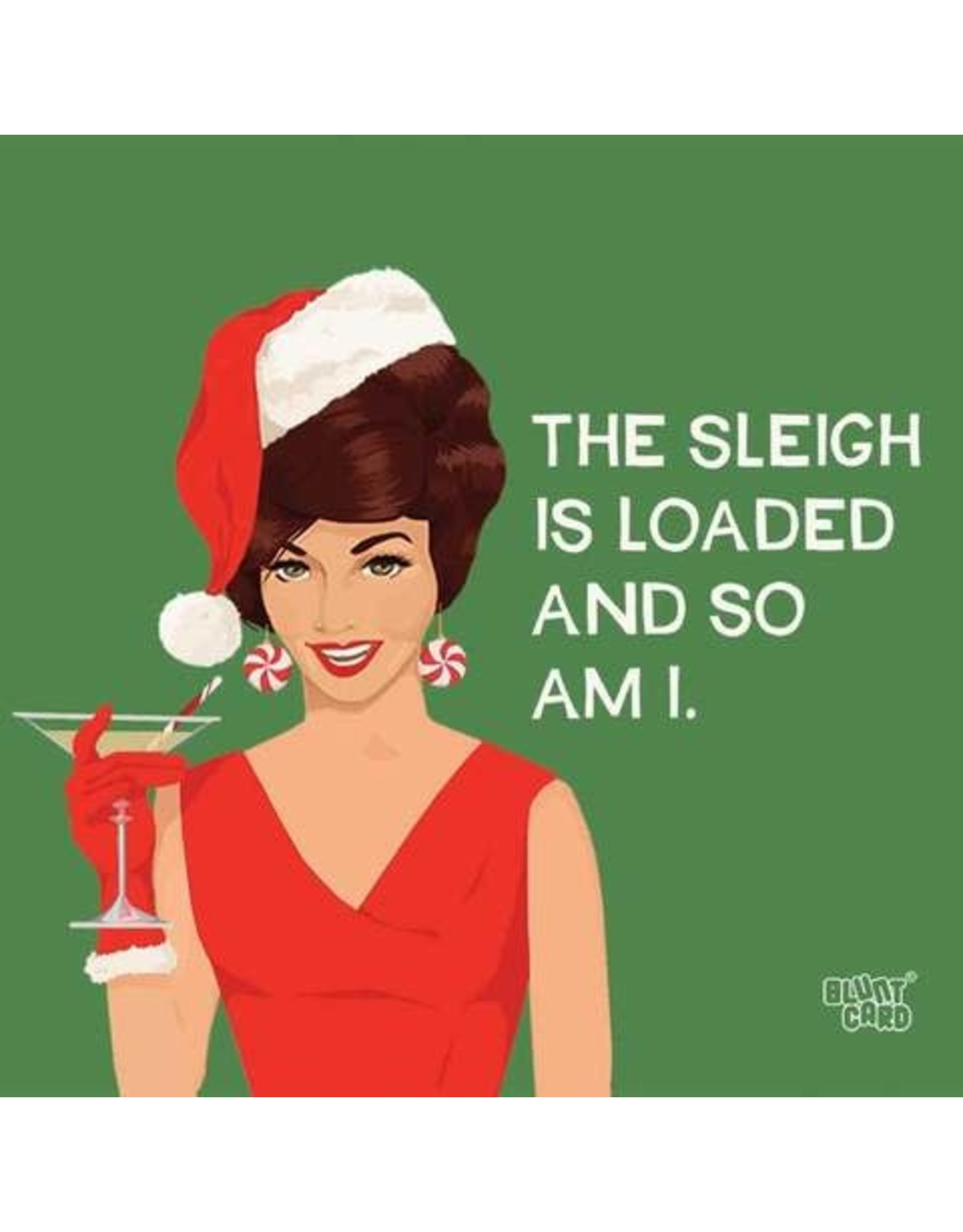Paper Products Designs SLEIGH IS LOADED BEVERAGE NAPKIN