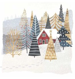 Paper Products Designs MOUNTAIN LODGE HOLIDAY BEVERAGE NAPKIN
