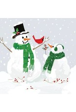 Paper Products Designs SNOWMEN & CARDINAL BEVERAGE NAPKIN