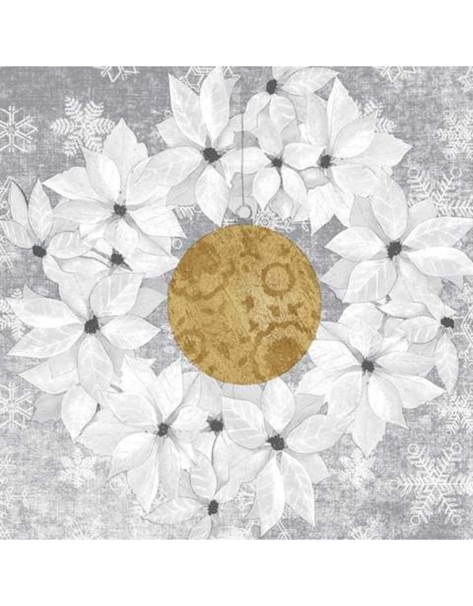 Paper Products Designs HOLIDAY WREATH LUNCH NAPKIN