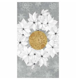 Paper Products Designs HOLIDAY WREATH GUEST TOWEL