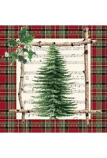 Paper Products Designs CHALET TREE BEVERAGE NAPKIN