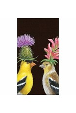 Paper Products Designs GOLDFINCH COUPLE GUEST TOWEL