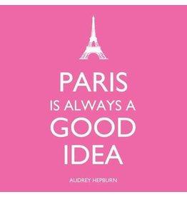 Paper Products Designs PARIS IS ALWAYS BEVERAGE NAPKIN