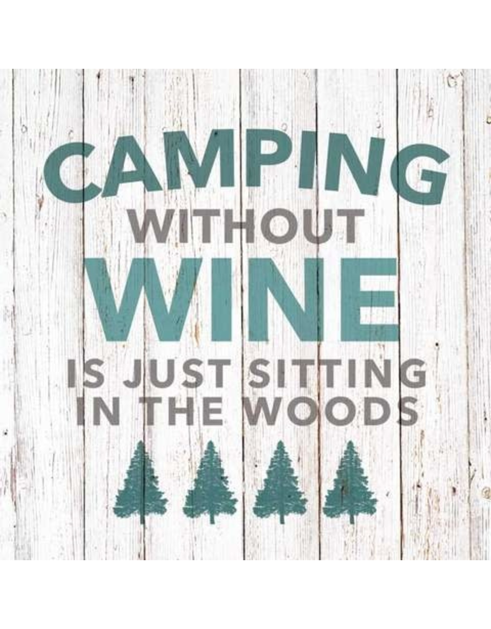 Paper Products Designs CAMPING WITHOUT WINE BEVERAGE NAPKIN