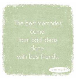 Paper Products Designs THE BEST MEMORIES BEVERAGE NAPKIN