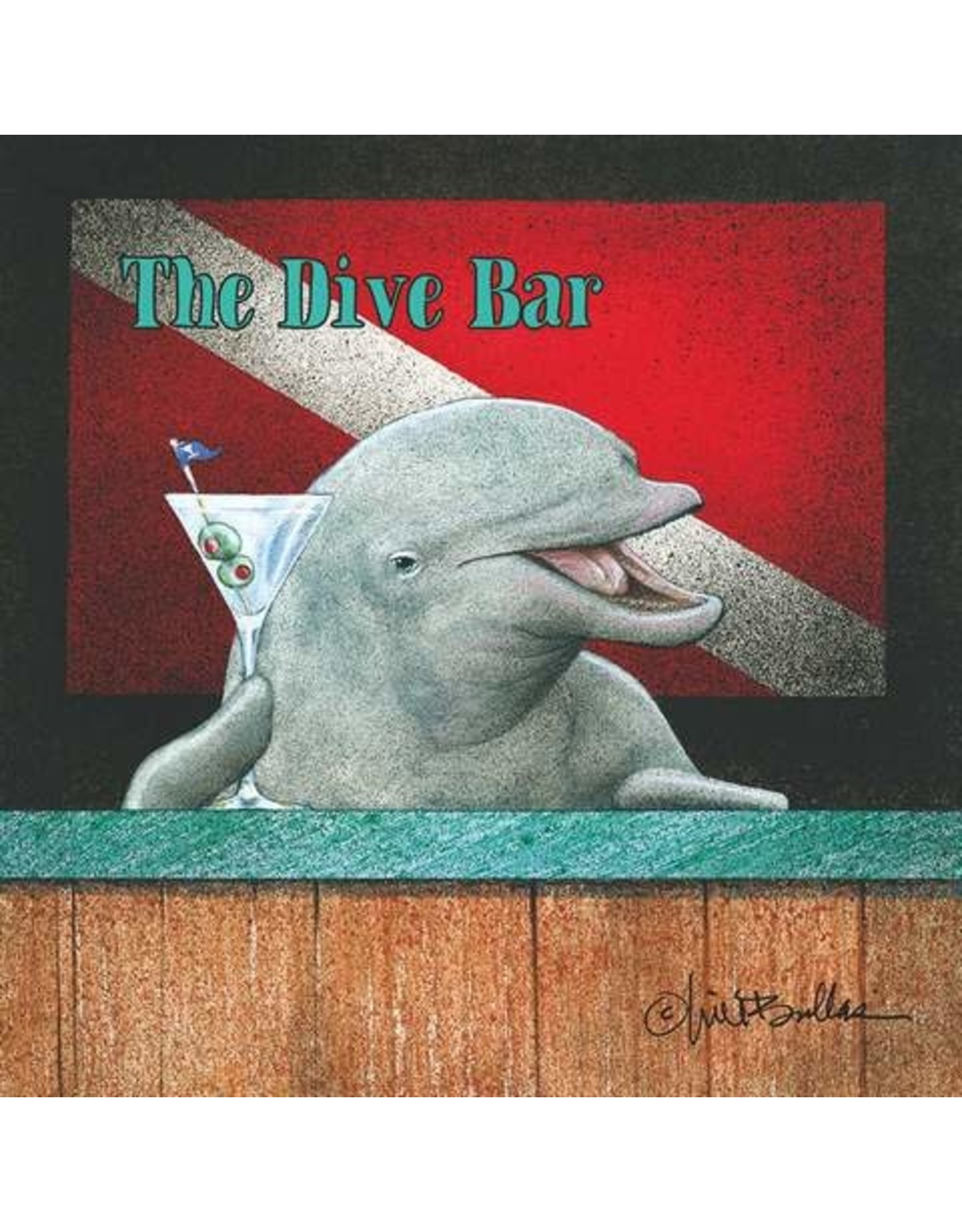 Paper Products Designs THE DIVE BAR BEVERAGE NAPKIN