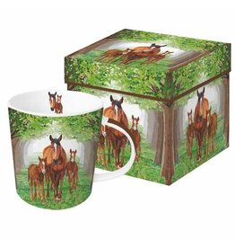 Paper Products Designs TIMBERLAND HORSES MUG IN GIFT BOX