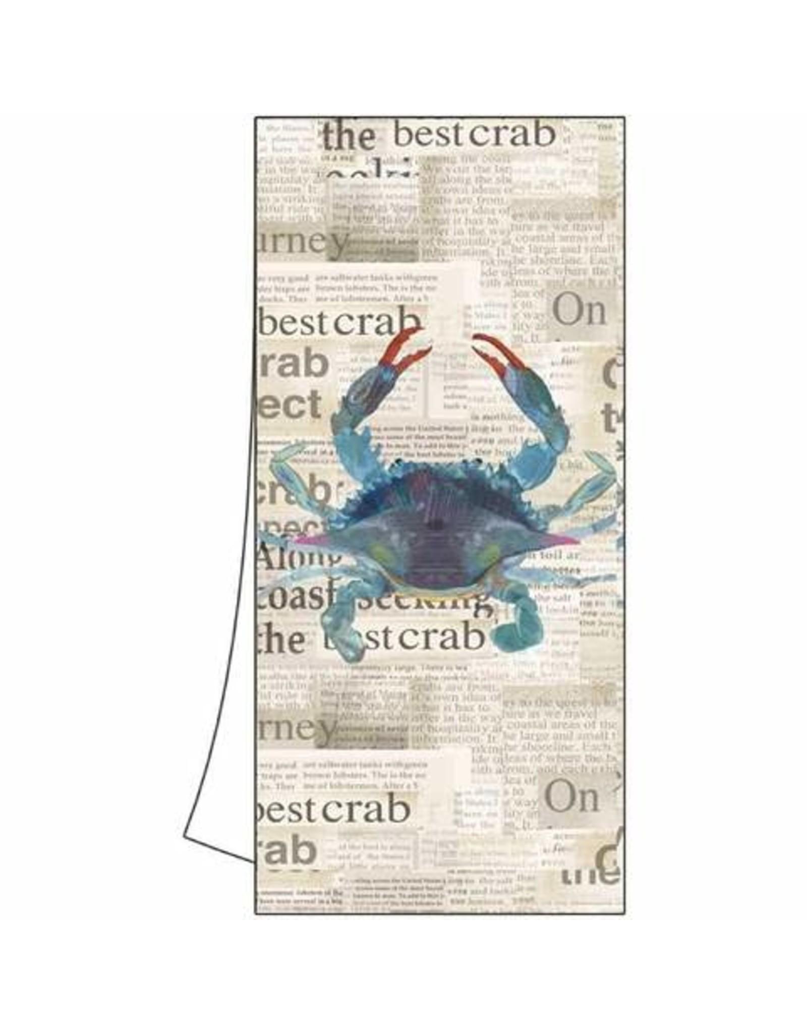 Paper Products Designs BEST BLUE CRAB KITCHEN TOWEL