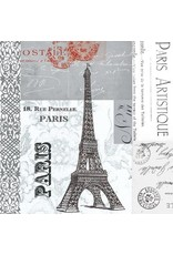 Paper Products Designs PARIS BEVERAGE NAPKIN