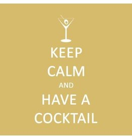 Paper Products Designs KEEP CALM…COCKTAIL BEVERAGE NAPKIN