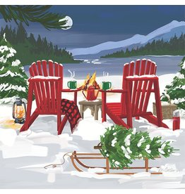 Paper Products Designs LAKESIDE HOLIDAY BEVERAGE NAPKIN