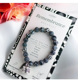 Jilzarah REMEMBRANCE BRACELET BLACK WHITE
