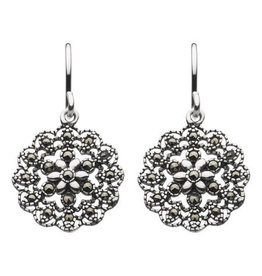 Kit Heath MARCASITE FLOWER DROP EARRING