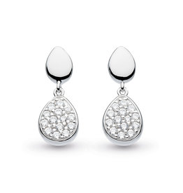 Kit Heath COAST PEBBLE GLISTEN CUBIC ZIRCONIA DROP EARRING