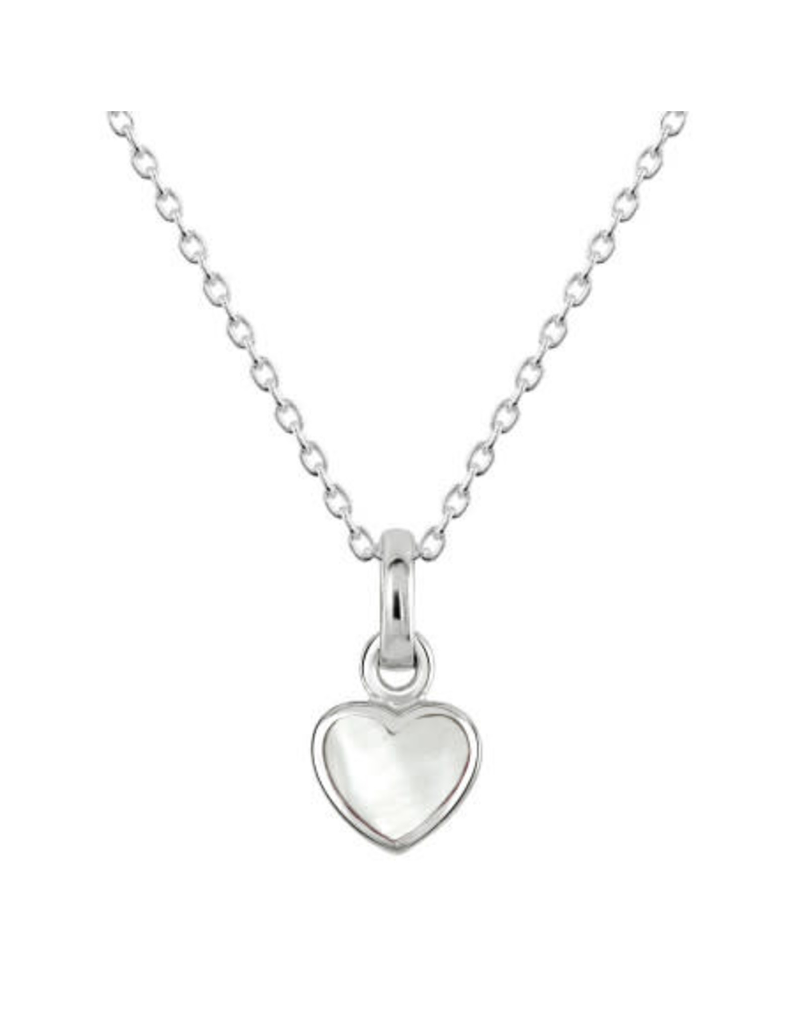 Kit Heath MOTHER OF PEARL HEART NECKLACE