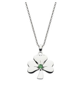 Kit Heath SHAMROCK GREEN CZ NECKLACE