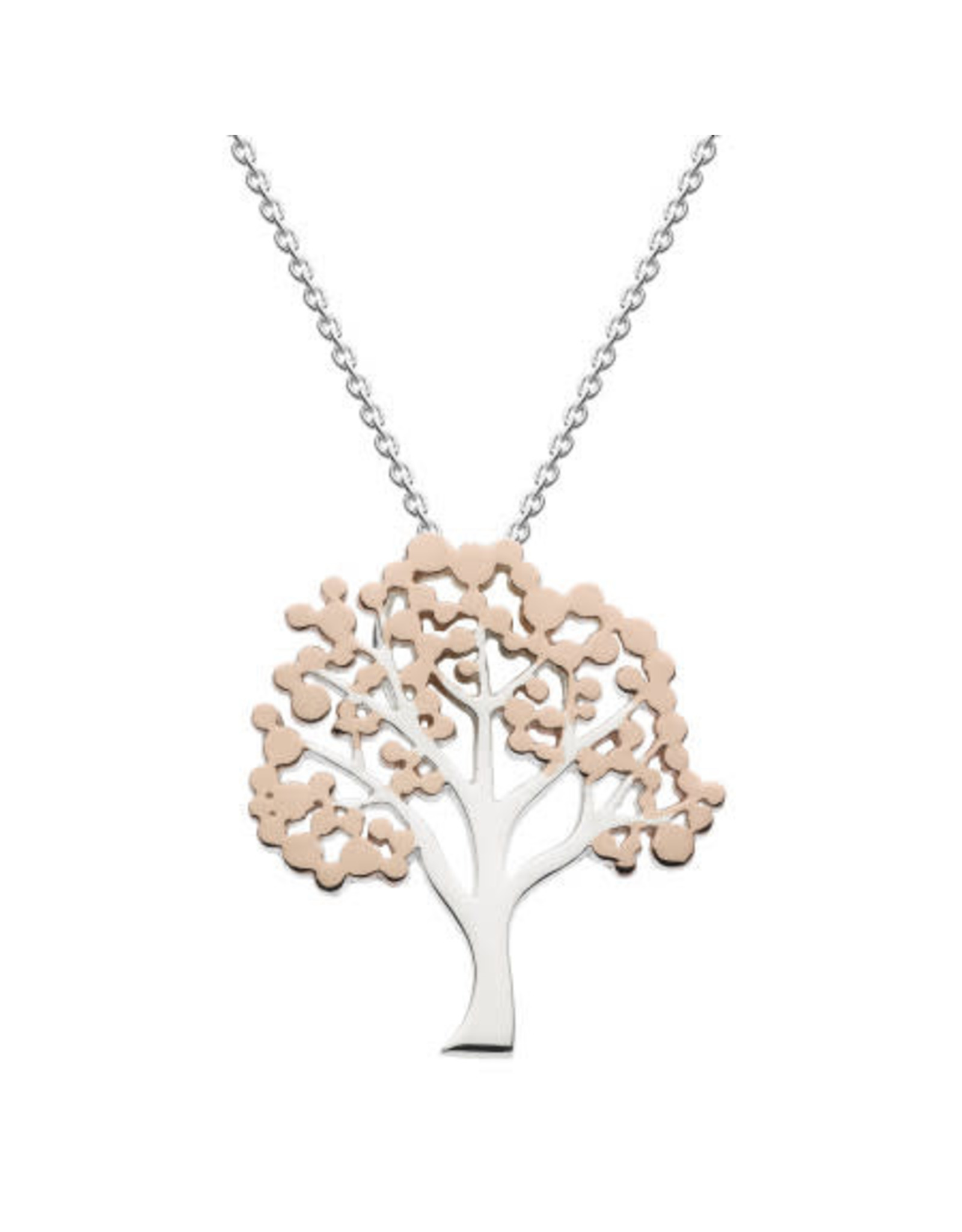 Kit Heath TREE WITH ROSE GOLD PLATE NECKLACE