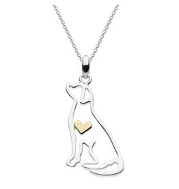 Kit Heath LABRADOR WITH GOLD PLATE HEART NECKLACE