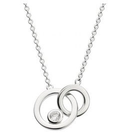 Kit Heath LINKED CIRCLE WITH CUBIC ZIRCONIA NECKLACE