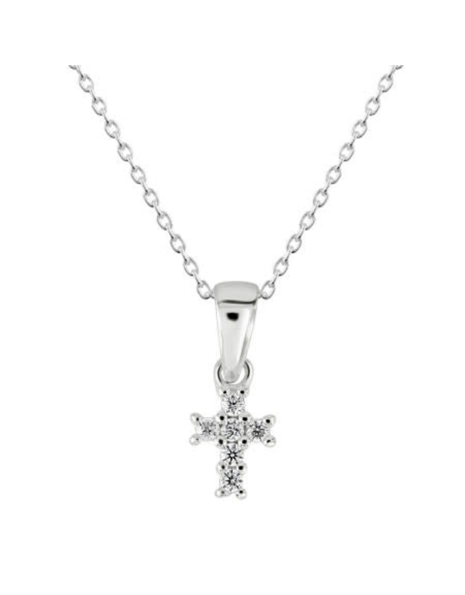 Kit Heath TINY CROSS CZ NECKLACE
