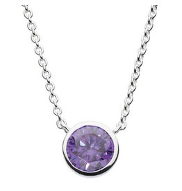 Kit Heath ROUND PURPLE CUBIC ZIRCONIA NECKLACE