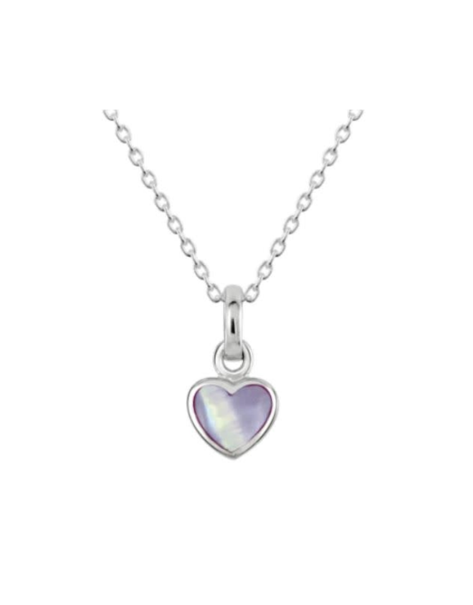 Kit Heath LILAC MOTHER OF PEARL HEART NECKLACE