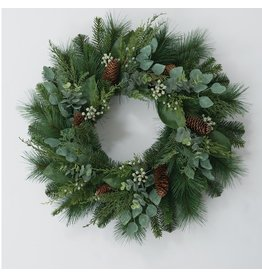Sullivans MIX PINE EUCALYPTUS WREATH  25""