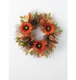 Sullivans SUNFLOWER POMEGRANATE WREATH 24""