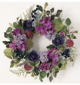 Sullivans GARDEN MIX PURPLE GREEN WREATH