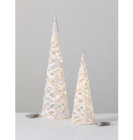 Sullivans WHITE WRAP LED TOPIARY TREE