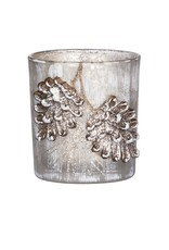 Sullivans PINECONE MERCURY GLASS VOTIVE 3""