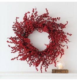 Sullivans RED BERRY WREATH 26""