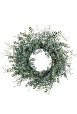 Sullivans BLUE BOXWOOD WREATH 24""