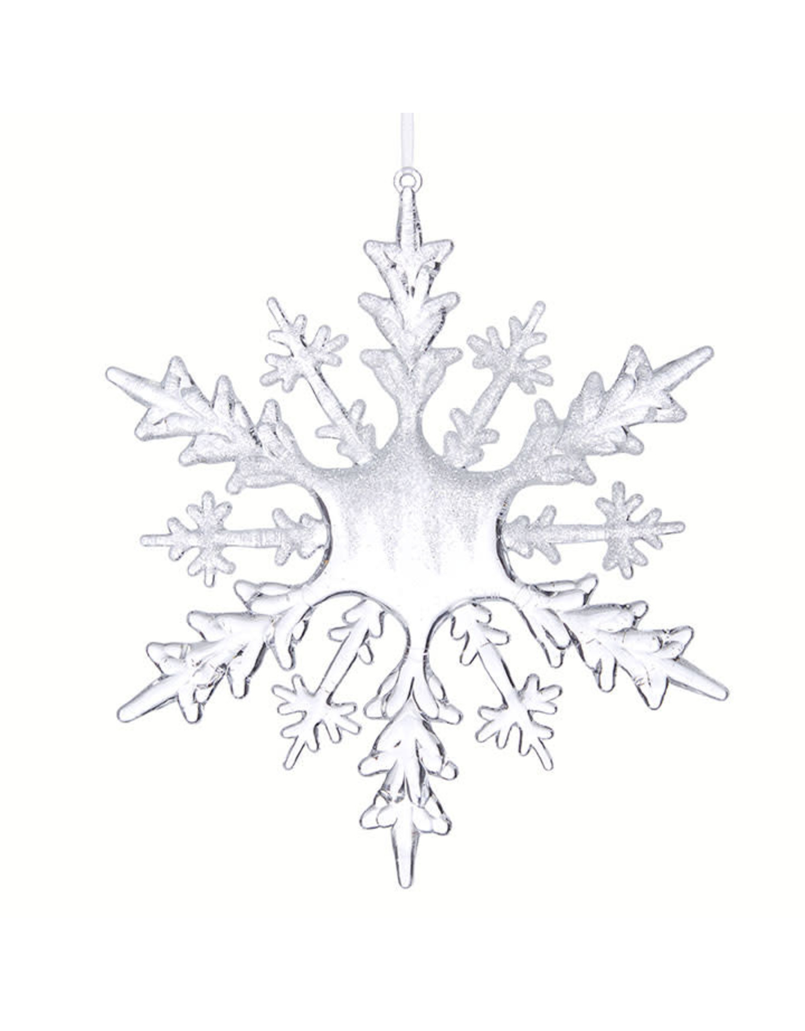 Raz Imports FROSTED SNOWFLAKE ORNAMENT 8""