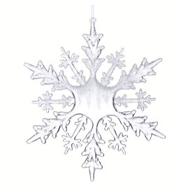 """Raz Imports FROSTED SNOWFLAKE ORNAMENT 8"""""""