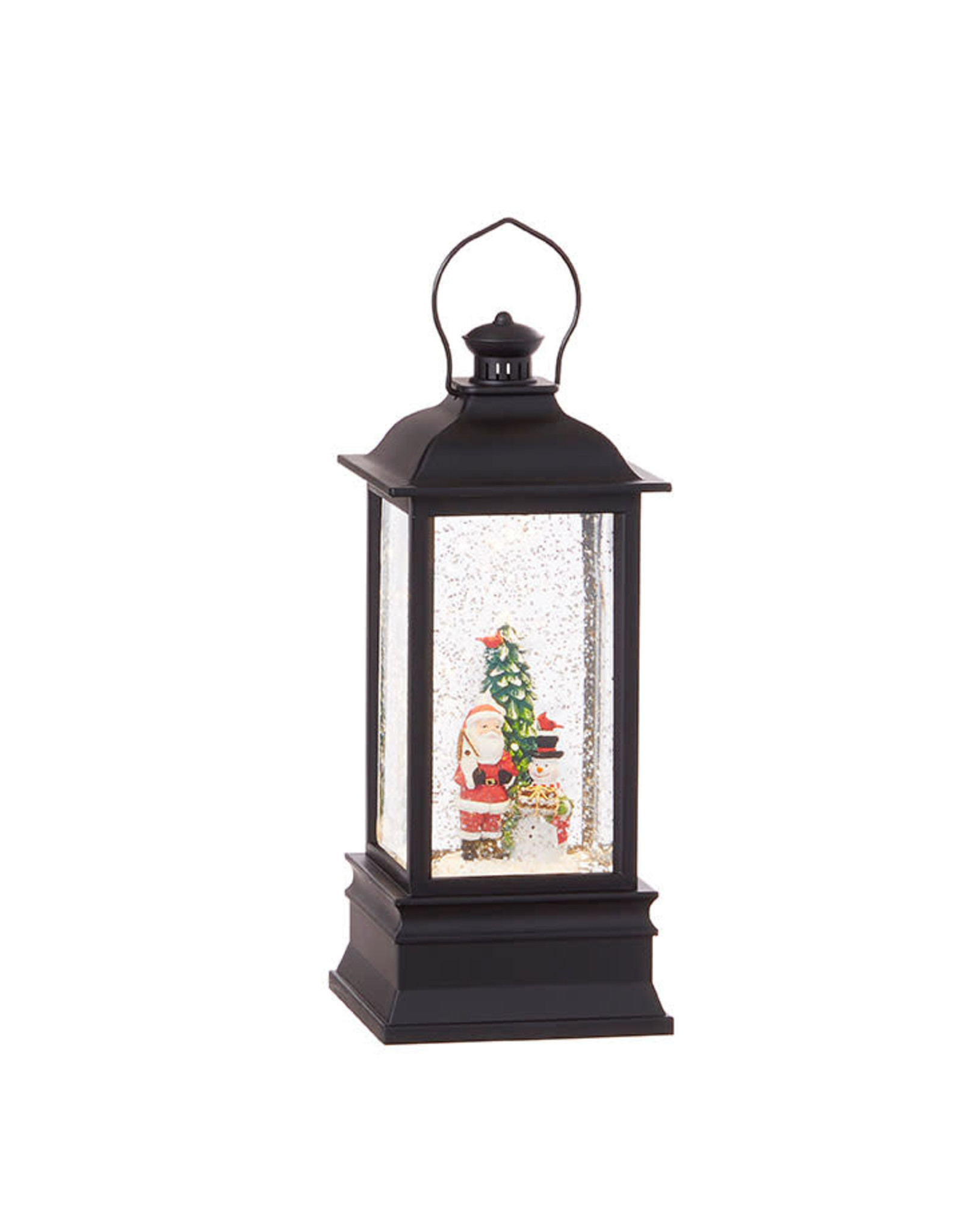 Raz Imports SANTA SNOWMAN LIGHTED WATER LANTERN