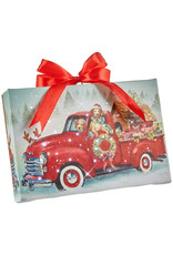 Raz Imports DOGS IN TRUCK LIGHTED PRINT ORNAMENT